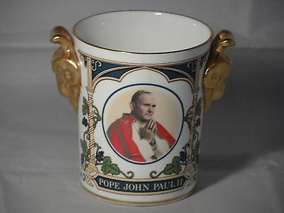 Coalport Pope John Paul ll 1982 Visit to Britain Limited Edition 500 Gilded Cup