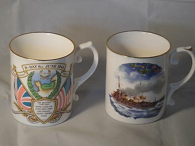 Caverswall 40th Anniversary of D-Day Mug 6th June 1944 & HMS Kelly Destroyer Mug
