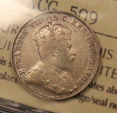 1905 Canada Silver 10 Cents F-15 ICCS