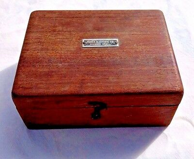 Fisher Scientific Brass Weight Set Wooden Box