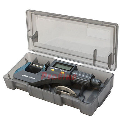 "0- 1"" 0-25MM Electronic Digital Micrometer Mechanical Tool .00005'' Resolution"