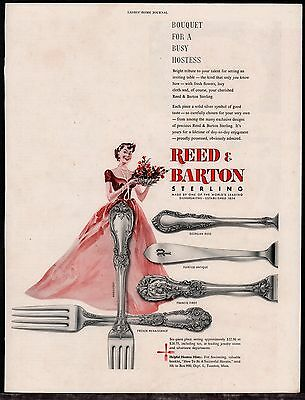 1950 REED & BARTON Burgundy Georgian Rose Pointed Antique Francis First PRINT AD