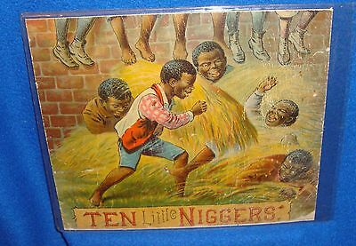 Vintage Black Americana Ten Little N****** Advertisment