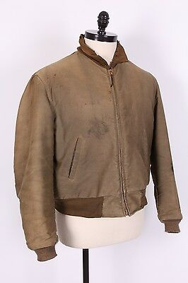 Vtg 40S Wwii Us Army Tanker Coat Jacket Usa Mens Size Xl