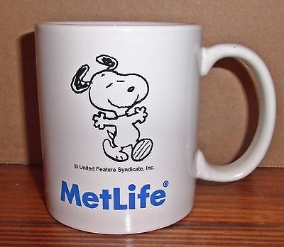 MetLife Insurance Snoopy Coffee Mug Cup Peanuts Charlie Brown
