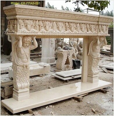 Customize Your Own Size Solid Marble Fireplace Mantel Surround@PLS ASK PRICE