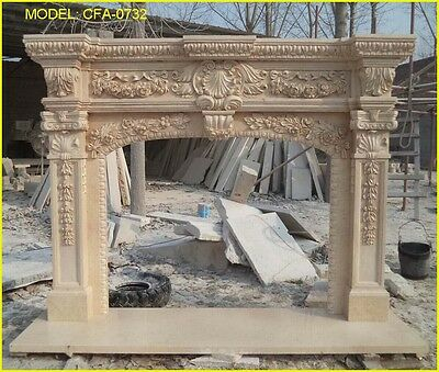 "FromFactoryToU! Customize Own Marble Fireplace Mantel Surround ""Pls ask price"""