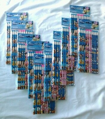 180 pcs Disney Mickey Mouse Wood Pencil Kid's School Teacher Stationery Supply