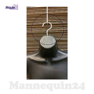 5 Chrome Hooks for Plastic Hanging Mannequins - Bent to Hang Forms Straight
