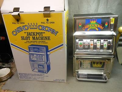 Vintage Casino Crown Jackpot Slot Machine For Entertainment Only Japan