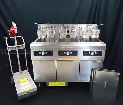 Frymaster Electric 3 Well Six Basket Commercial Fryer With Filter - 480 Volt!