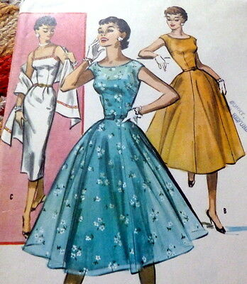 LOVELY VTG 1950s DRESS McCALLS Sewing Pattern 11/29 FF