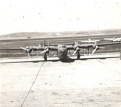 WWII Original Army Air Force Large RP- Airplane- B-24 Bomber- 16 Aug 1941