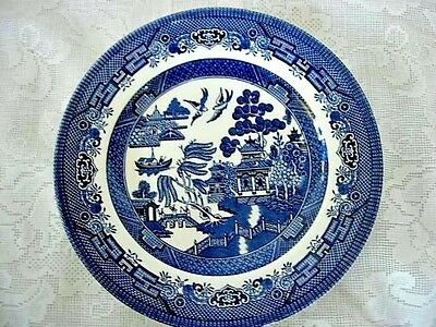 Collectible Vintage CHURCHILL Blue Willow Plate - Made in England