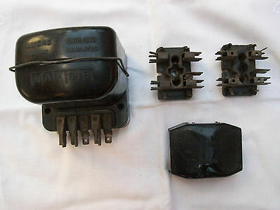 Lucas Voltage Regulator Vintage Early 1960s + 2 Fuse Boxes