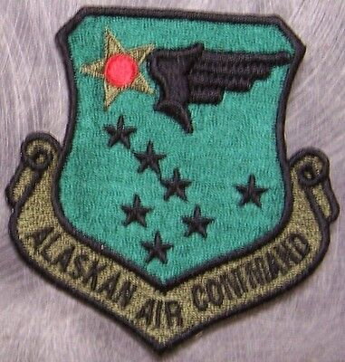 Embroidered Military Patch USAF Air Force Alaskan Air Command NEW muted