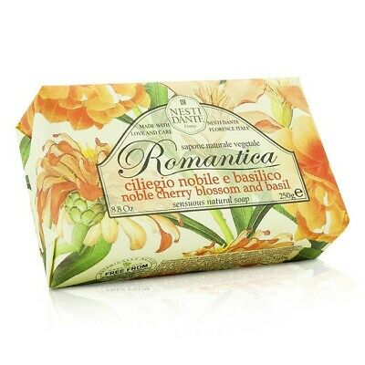 Nesti Dante Romantica Sensuous Natural Soap - Noble Cherry Blossom & Basil 250g