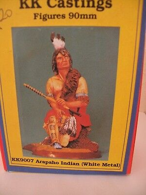 metal white figure arapaho indian by kk castings boxed new 8 pieces