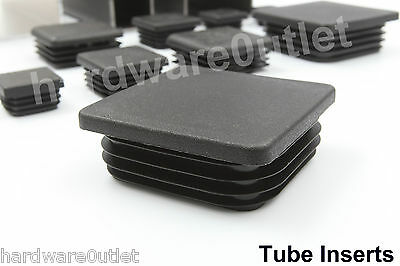 1 Box Section Insert BLACK Tube Post Caps 70 - 100mm Knock In Box Section Steel