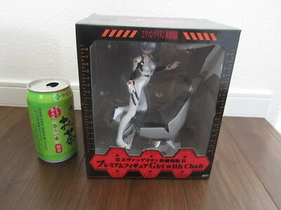 New Evangelion Premium Figure Girl with Chair Rei Ayanami free shipping