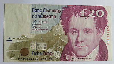 KEY DATE Replacement PPP 9-12-1999 Ireland eIRE 20 Pound Banknote Pick-77r5