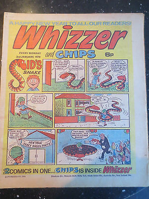 Whizzer and Chips Vintage Old UK Paper COMIC 3 January 1976 Birthday Gift