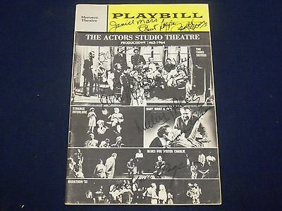 1964 Playbill The Three Sisters Signed Luther Adler Page + 8 Others - J 1768