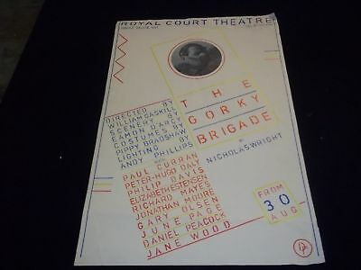 1982 The Gorky Brigade Royal Court Theater Poster Starring Paul Curran - P 152