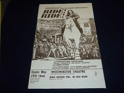 1976 Ride Ride Westminster Theater Poster Starring Gordon Gostelow - P 144