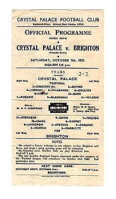 Crystal Palace v Brighton 7.10.1939 Friendly