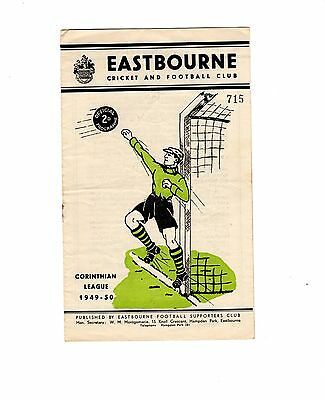 Eastbourne v Crystal Palace 24.12.1949 Friendly