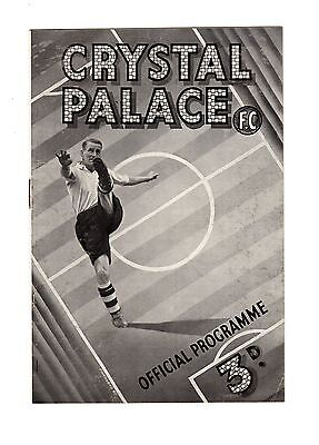 Crystal Palace v Aberdeen 1.5.1948 Friendly