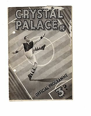 Crystal Palace v Stockport County 18.12.1948 Friendly