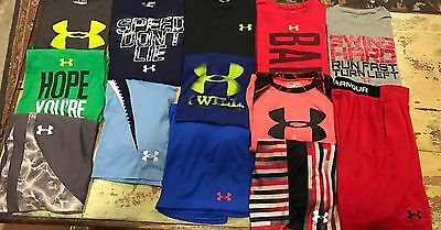 Boys Youth Medium YM ALL Under Armour Huge Lot  Shorts T-Shirts Sets