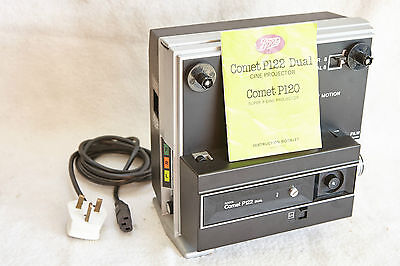 Vintage Boots P122 Dual Cine Projector Super 8/standard 8. Working/lamp.boxed