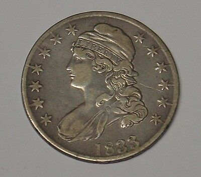 USA 1833 Liberty Half Dollar, Fine and scarce.