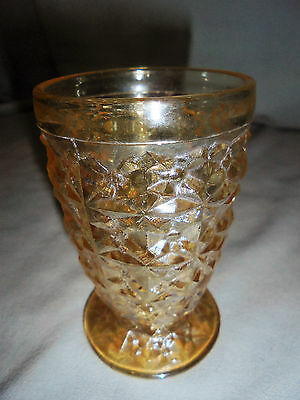 """Holiday By Jeannette Iridescent Tumbler Footed 3.75 Tall 2.5"""" Top"""