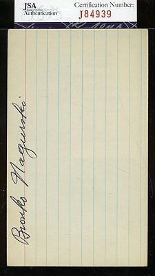 Bronko Nagurski Signed 3X5 Index Card Jsa Certified Authentic Autograph