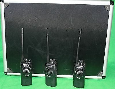 3x Kenwood TK-2302 V.E2 Freenet VHF Funkgerät / Security Set