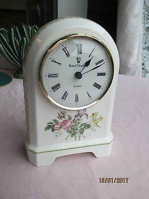 "Royal Doulton ""Camilla"" Mantle Clock"