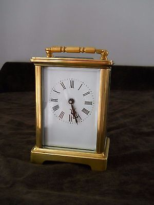 Vintage French 8 day carriage clock very clean and serviced