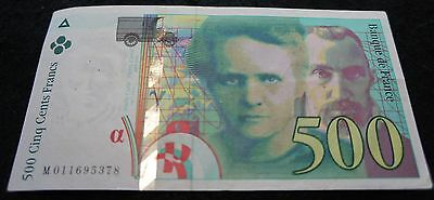 1994 France 500 Cents Francs Bank Note in VF Condition Extremely Nice  Note!