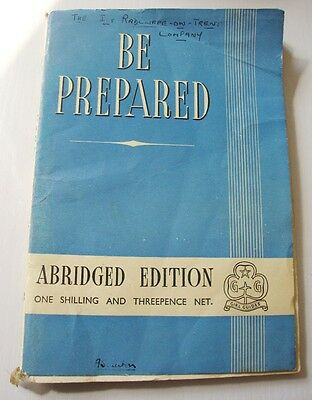 Be Prepared Old Girl Guide Book  1947 by A M Maynard Abridged Edition