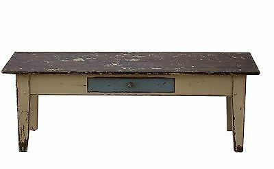 Coffee Farm Table Farmhouse Primitive Painted Country Rustic Pine Distressed