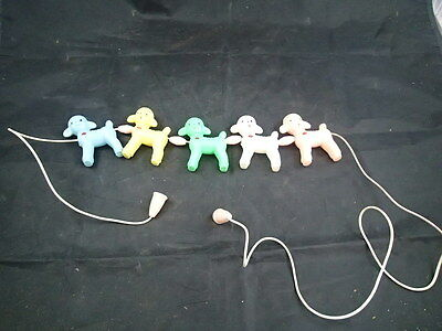 LAMBS  Vintage 1940s 50s Plastic Easter Decoration on String Toy Sheep