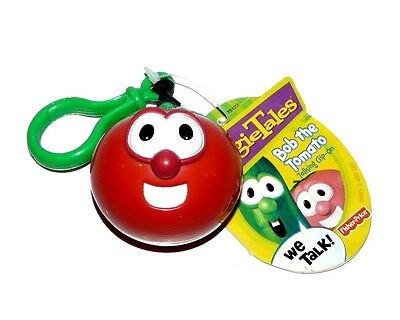Vtg Fisher Price Veggie Tales Bob The Tomato Talking Clip On NWT Needs Battery