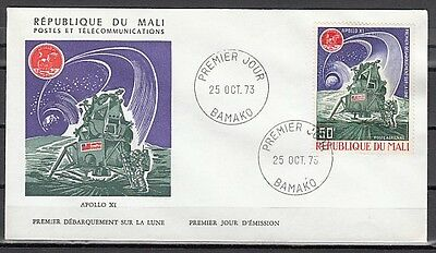 Mali, Scott cat. C198. Apollo XI. Moon Mission issue. First day cover.