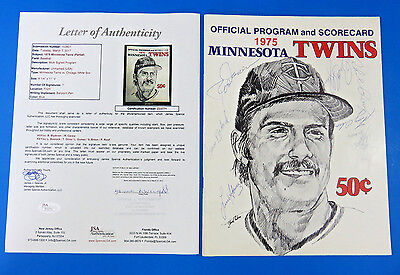 1975 Minnesota Twins Multi-Signed Program ~ Jsa Z33771 ~ 7 Sigs ~ Lyman Bostock