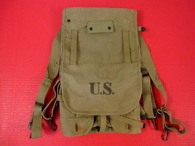 WWII US Army M1928 Haversack Pack Khaki Color Complete - Marked: Boyt -42- XLNT