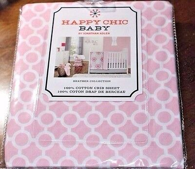 Happy Chic Baby PINK HEATHER COLLECTION Fitted Crib Toddler Sheet Jonathan Adler